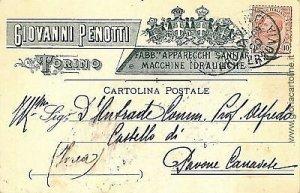 09666  CARTOLINA d'Epoca - TORINO Citta': PUBBLICITARIA 1909