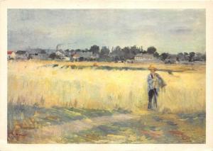 BR6408 Berthe Morisot Le Champ de ble  painting postcard art
