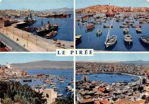Greece Le Piree Harbour Boats Ships Schiff Hafen General view Panorama