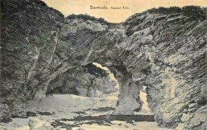 BERMUDA~NATURAL ARCH~1910 POSTMARK-G H BRADLEY PHOTO POSTCARD