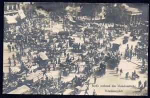 Berlin Potsdamerplatz Traffic Strike RPPC unused c1919