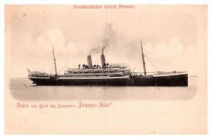 S.S. Prinzess Alice ,  Norddeutscher Lloyd, Bremen