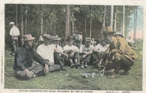 Officer Demonsting Squad Movement by use of Stones, 1900-10s