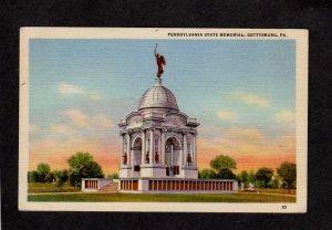PA Pennsylvania State Memorial Battle Grounds Civil War Gettysburg Postcard
