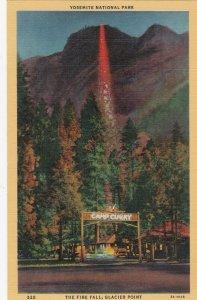 YOSEMITE , California, 1930-40s ; Fire Fall , Glacier Point