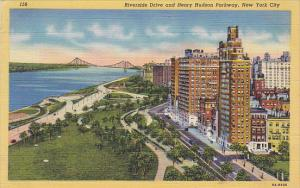 Riverside Drive and Henry Hudson Parkway New York City 1946 Curteich