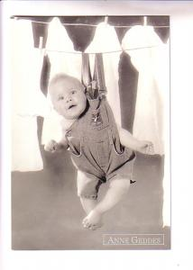 Anne Geddes, 1995, Photo Baby on Clothesline, Classico 605-052