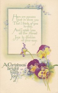 Christmas Greetings - Pansies Bright with Joy - DB - Tuck