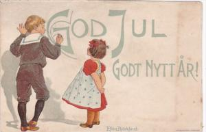 Sweden New Year Godt Nytt Ar Young Children