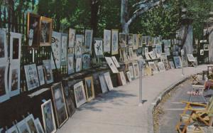 Framed Art, Sidewalk Exhibition, Charleston, South Carolina 1950-60´s