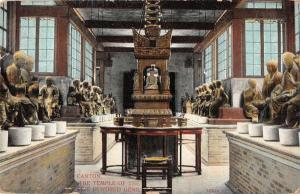 Canton China Temple of the Five Hundred Genii Interior Antique Postcard J79614
