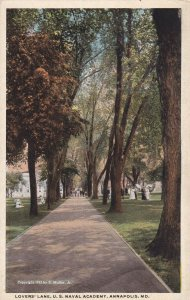 ANNAPOLIS, Maryland, 1910-1930s; Lovers' Lane, U.S. Naval Academy