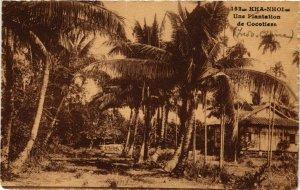 CPA AK INDOCHINA Kha Nhoi Une Plantation de Cocotiers VIETNAM (957234)