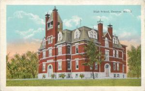 #2. Alta Escuela Trenton, Mo Blanco Frontera Tarjeta Postal