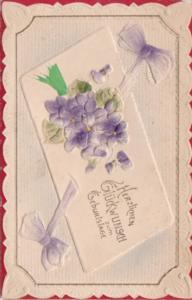 Birthday Herzlichen Glueckwunsch With Purple Flowers
