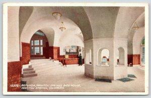 Manitou Springs CO~Man in Bath House Rotunda Interior~Radio Active Water~1915