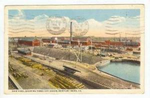 Aerial, 3 Dry Docks @ Ship Yard, Newport News, VA, 1918