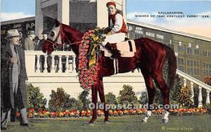Gallahadion Winner of 1940 Kentucky Derby Clark County, Kentucky, KY, USA Unused