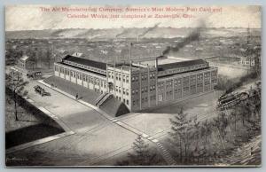 Zanesville Ohio~Art Manufacturing Co~Postcard Calendar Factory~1910 Architect PC