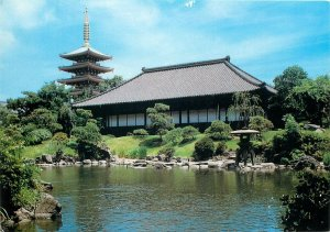 Japan denpoin garden and five storied pagoda Postcard
