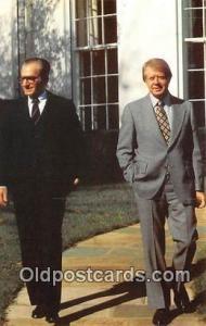 White House Postcard President Jimmy Carter, Shah Mohammed Reza Pahlavi