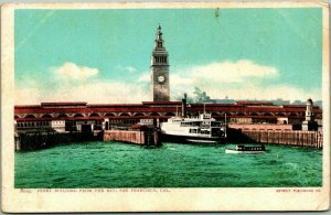 c1900s SAN FRANCISCO California Postcard FERRY BUILDING from the Bay Unused