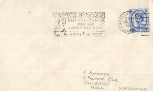Weston Super Mere 1965 Donkey Postmark Slogan Envelope