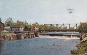 Huntingdon, The bridge and the fall of Chateauguay River,  Quebec,  Canada, 4...