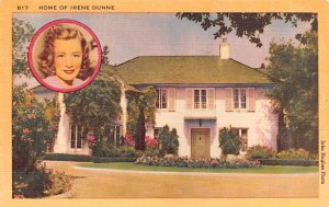 Home of Irene Dunn Holmby Hills, California USA Postal Used Date Unknown