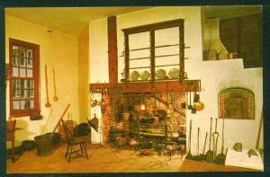 Mount Vernon Family Kitchen President George Washington Home Vintage Postcard