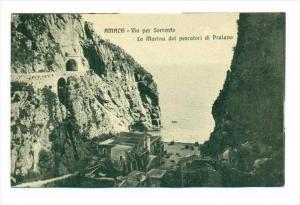 AMALFI - Via per Sorrento, Italy, 00-10s   La Marina dei pescatori di Praiano