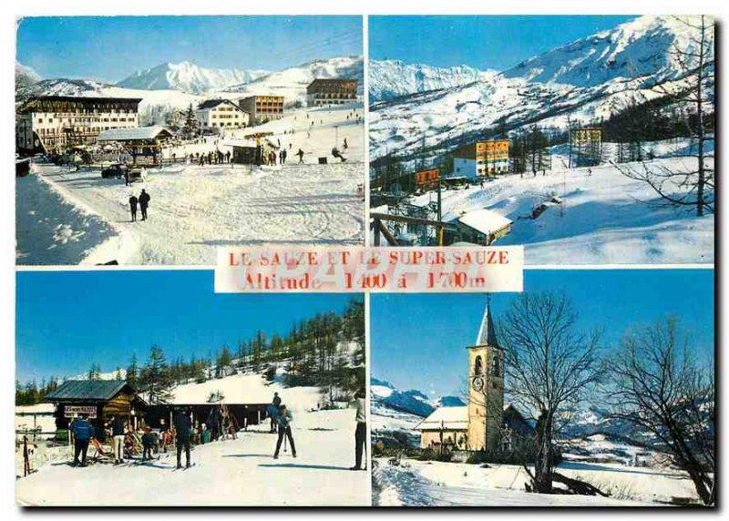 Postcard Modern Le Sauze Super Sauze Lower Alps