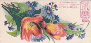 ADV: TC: The Linen glace Company, Flowers, Boston, Massachusetts, 1890s