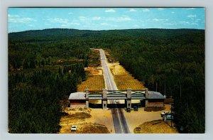 Ontario- Canada, East entrance Algonquin Provincial Park, Aerial Chrome Postcard