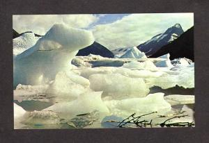 AK View Portage Glacier near Anchorage Seward Highway Alaska Postcard