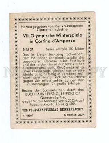 167003 VII Olympic SIXTEN JERNBERG skier CIGARETTE card