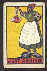 BLACK AMERICANA BLACK MOTHER MAMMY BABY VINTAGE COMIC POSTCARD 1908