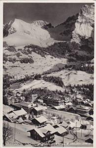 RP; Adelboden(1356 m.) mit Bonderspitze(2548), Switzerland, PU-1936