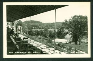 Chantecler Hotel Sainte Adele En Haut Canada RPPC Real Photo Postcard Patio View