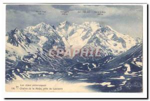 Massif du Pelvoux Old Postcard Meije and the Breche de la Meije
