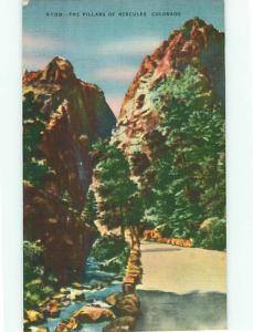Colorado Pillars of hercules N139 Highways River Mountains   Postcard # 6523