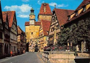 Rothenburg ob der Tauber, ROederbogen mit Markusturm, St. Marks Tower