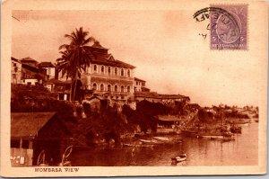 Mombasa Kenya Postcard used 1927 with Stamp