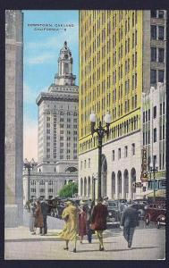Downtown Oakland CA unused c1940's
