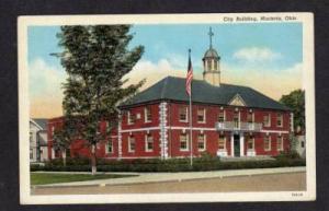 OH City Hall Town Offices Bldg MARIETTA OHIO POSTCARD