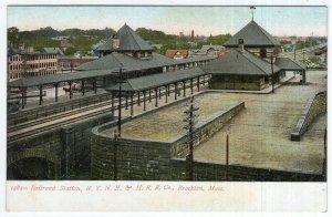 Brockton, Mass, Railroad Station, N.Y. N. H. & H. R. R. Co.