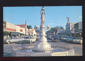 ENTERPRISE ALABAMA DOWNTOWN STREET SCENE 1960's CARS VINTAGE POSTCARD STORES