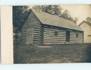 Pre-1918 rppc architecture GREAT VIEW OF ANTIQUE LOG CABIN HOUSE HL9959