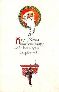 Santa Claus  small tear bottom edge