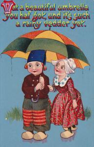 Dutch children under an umbrella, 00-10s